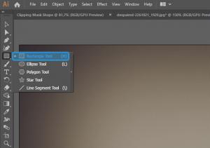 Pilih Shape di Adobe Illustrator