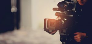 videographer footer background